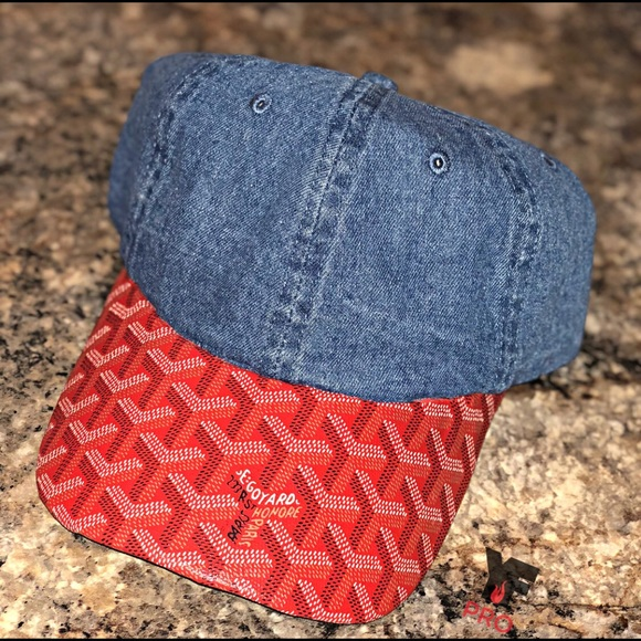 ab7c92b8a2d Goyard Other - Red Bluejean goyard Custom. Dad hat